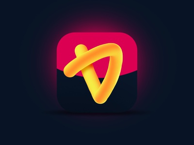 Letter D icon 3d art 3d logo app icon illustration design