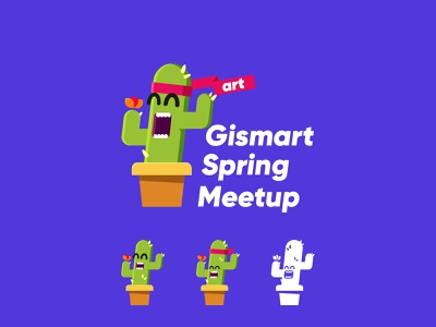 Gismart Spring Meetup logo vector illustration branding logo design