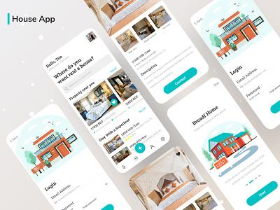 House App illustraion app ux ui mobile app design mobile app web mobile vector psd house abstract houses house illustration