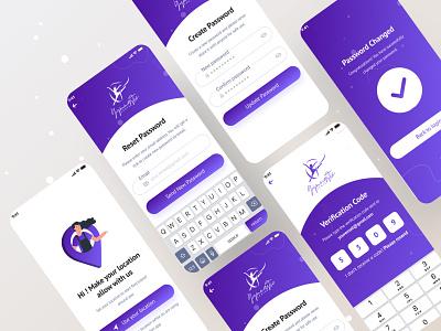 Yoga App (Sign up & Sign in screen) yoga yoga app design yoga illustration branding vector illustraion ux ui minimal colour app agency sign in sign up login new 2021 apps ios