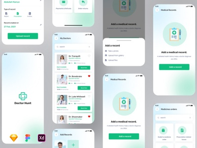 Medical Consultation app medical care nurse medicine hospital health app doctor app ui animation clean health doctor