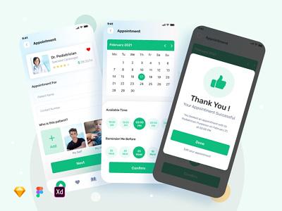 Medical Consultation app mobile design mobile app hospital clinic health doctor animation ui