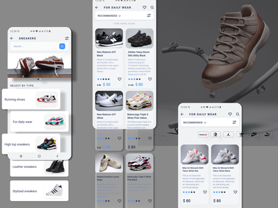 Shoes shop Mobile APP creative uiux design uiux shopping app webdesign website uidesign uxdesign dribbble inspiration mobile app design mobile app mobile design mobile ui design