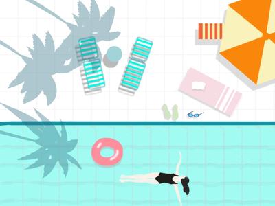 summer pool summer