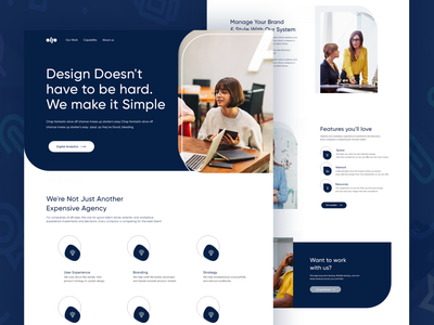 ollo ll Landing Page design page clean ui branding pages web grid user interface ui dotpixsel landing design 2020 ui user interface trends minimal creative color clean page design landing page landing