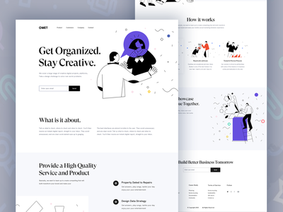 Omet II Landing Page design 2020 treand uxdesign clean wordpress typhography template mobile ui mobile application experience mobile app design ios app mobile layout landingpage ios illustration fintech analytics