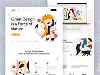 Aollo ll Landing Page design