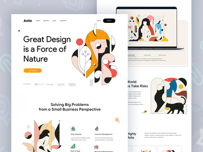 Aollo ll Landing Page design ux ui trendy user experience dotpixel-agency wordpress shopify shop product illustrations video online design motion card minimal user interface clean checkout casestudy
