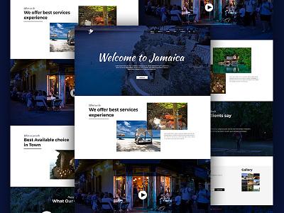 Tourism Landing page ux ui tourism system page management landing