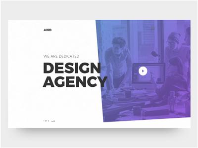 Design Agency Landing Page Web View