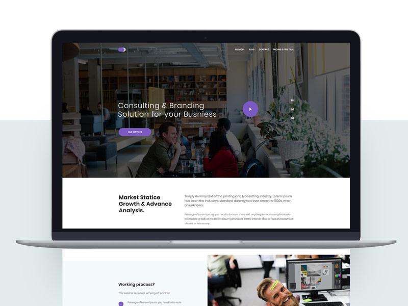 Splendor Consulting Amp Branding Landing Page Dribbble
