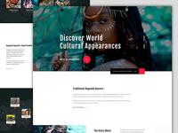 Cultural Landing Page  Design