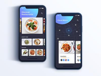 Restaurant Apps Concept custom design ux  ui mobile ui kit ui animation mark gredient minimalist app mobile ui design mobile ui mobile app development mobile app app design ios mobile app food trend ux in ios iphone