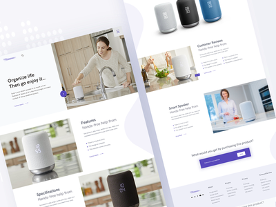 Landing Page - Sony Smart Speaker grayscale white device template care white house responsive design responsive sports brand sports speaker sound home shot best dribbble product smart sony page landing app