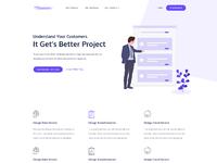 Projects management landing page idea exploration b