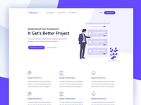 Projects Management Landing Page Idea Exploration 2