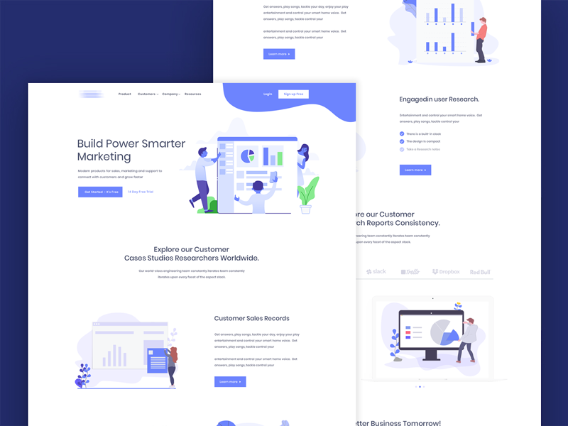 Agency Landing Page Redesign new app photo photoshop isometric icons customer orientation design user data design data analytics application design icon character design illustrator isometric illustration isometric desktop application  statistics business  clean  color isometric webdesign landing homepage digital agency
