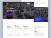 Marketing Agency Landing Page redesign