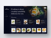 Dashboard UI Design Exploration (Food)