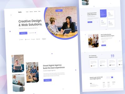 Boots Digital Agency Website Design experience client web solution website uxdesign mobile minimal typhography responsive design landingpage illustration freelancer e-comerce design creative branding apps agent agency
