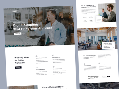 Startup Business consulting landing page design app dailyui mockups products clean app homepage digital marketing agency trend 2019 startup creative landing page agency minimal uiux ui visual design design webdesign