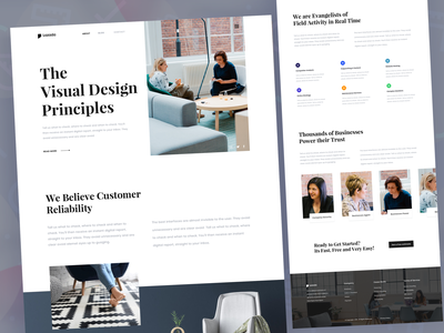 Visual Design Consultancy Landing page