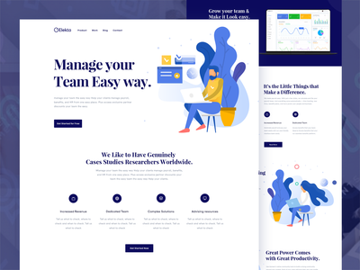 Team Management Landing page design management mordern web marketing website design digital marketing agency website team work dotpixsel clean branding making strategy teamwork illustration agency custom creative collaboration management system team