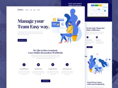 Team Management Landing page