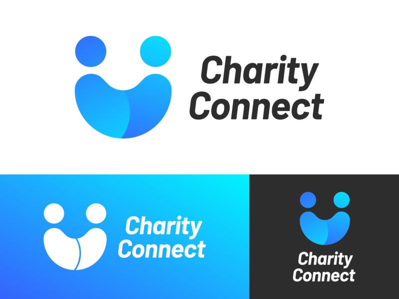 Charity Connect Logo Design collaboration friends connect smiley smile relationship social connection charity charity connect vector logo illustration identity icon graphics graphic design branding brand