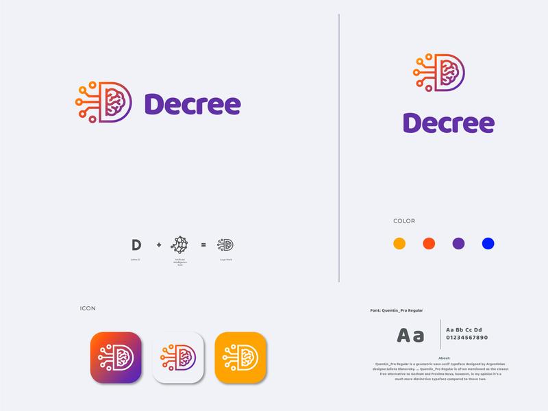 DECREE APP LOGO personal branding best logo design app app icon logo branding design logo design logo brand app logo logo app brand identity decree app logo decree app logo