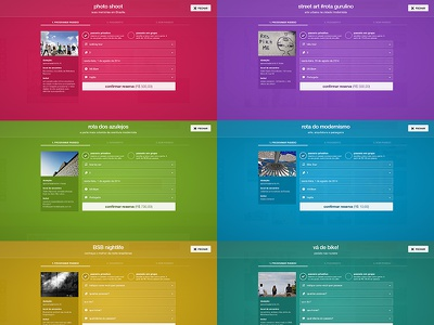 Checkout modal with multiple color schemes checkout modal window colorful theme scheme