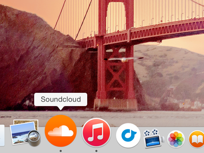 SoundCloud Mac App Icon  soundcloud icon mac freebie download fluid app fluid app yosemite