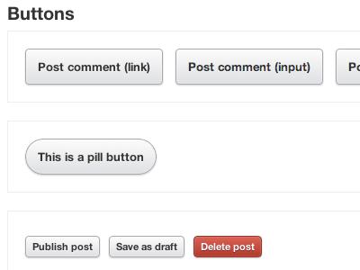 CSS3 Buttons css css3 sass compass framework button danger delete ui