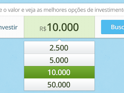 Search by amount money search box auto complete button green blue reais r$