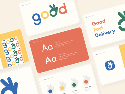 Good Delivery - Branding visual identity guideline font brandbook typeface typogaphy color colorful identity branding logo design illustration agency branding web uiux minimal app sunday button