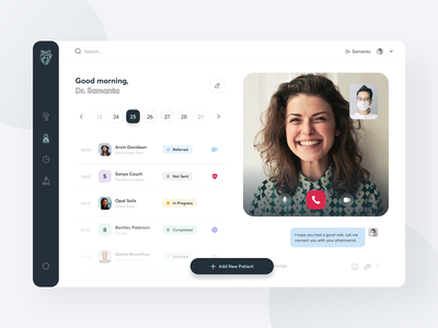 Health Care Dashboard clean shedule interfacedesign uiux sunday product design medicine minimal patient healthcare clinic pharmacy interface doctor health app