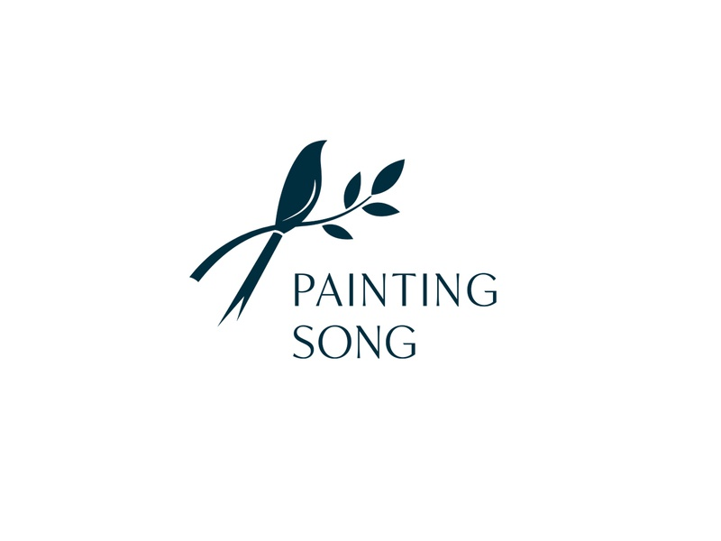 Painting Song for sale brush branch song leaf accessories logo painting painter paint bird