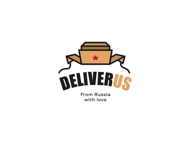 DELIVERUS packaging package pack box star earflaps russia russian hat cap logotype logistics delivery deliver
