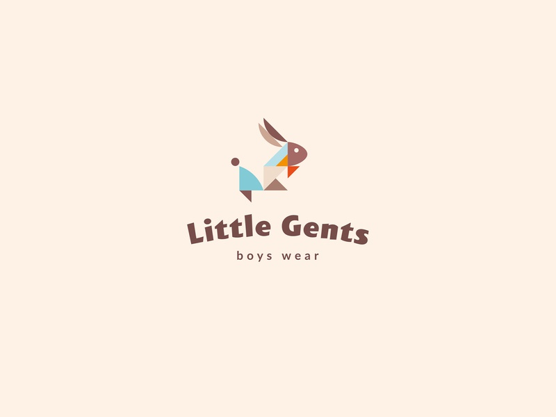 Little Gents / branding for sale logotype logo bowtie hare rabbit kids kid gentleman gent little clothes branding brand wear boys boy