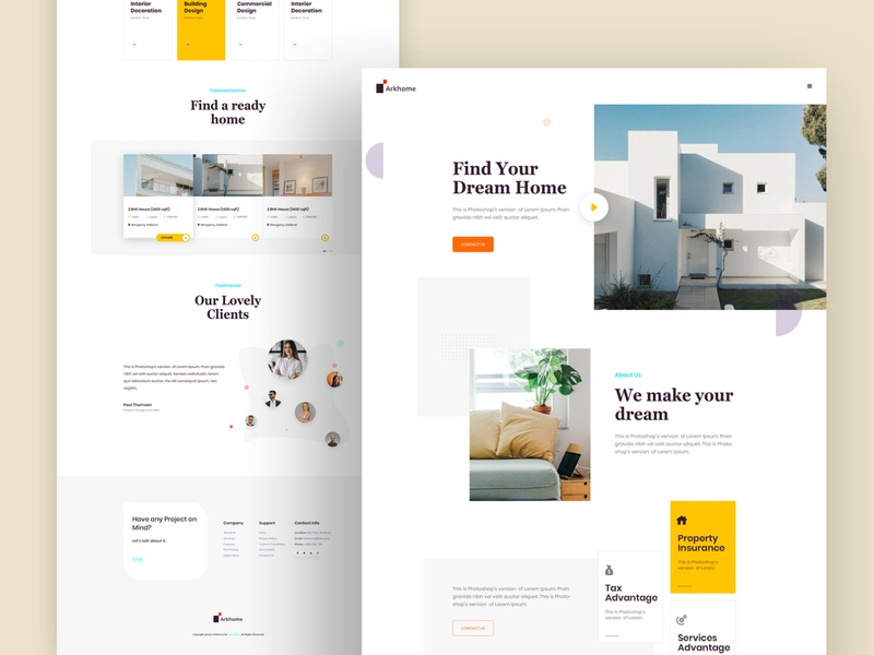Real Estate Agency neat and clean mockup branding real estate branding real estate agency real estate best agency design trend 2020 trend creative website agency website web uiux uidesign ui design