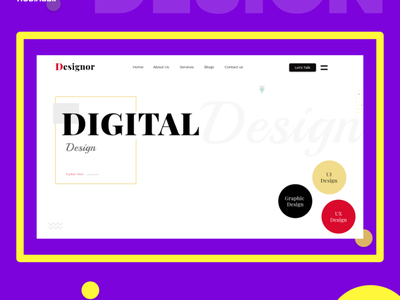 Digital Agency Website user experience user interface ui  ux uidesign