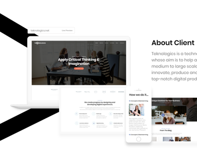 Digital Agency Redesign Website user experience userinterface uiux webdesign