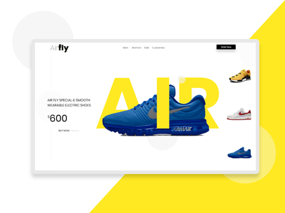 Interaction Airshoe website design userinterface designs visual design uiux interaction design