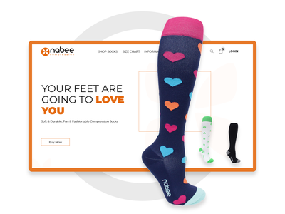 Nobee Sock Landing Page Redesigned graphicdesign graphics user experience user interface design userinterface web design webdesigns website webdesign