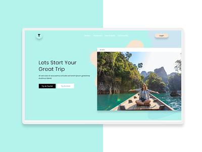 Travel Agency Landing Page Design web design webdesign website user experience userinterface