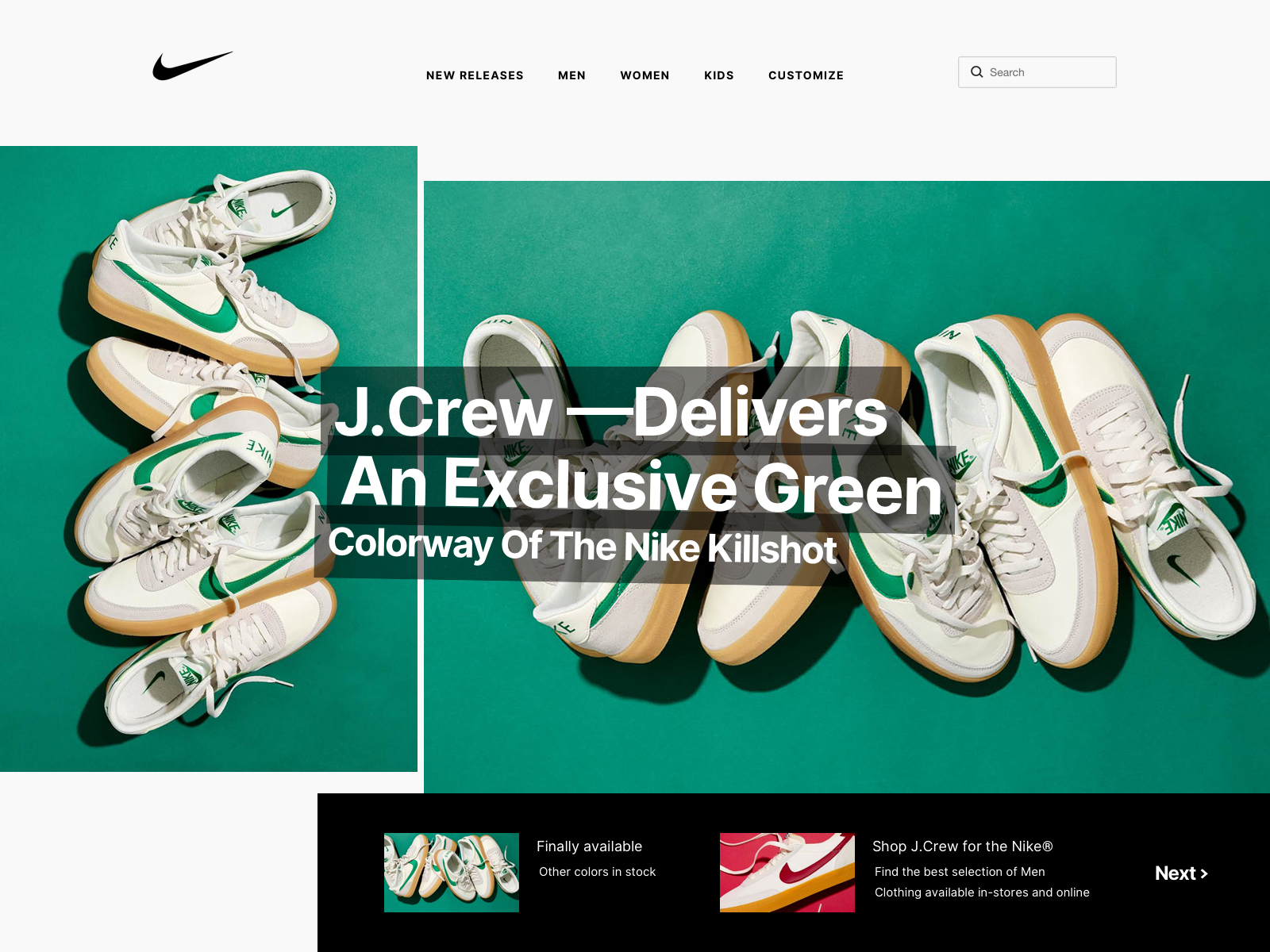 Nike Killshot 2 Code Green x J.Crew