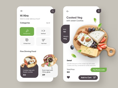 Restaurant Mobile Application-UX/UI Design ui design mobile ux ui design mobile apps mobileappdesign app interface ui uiux ux mobile ui minimal mobile app