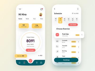 Fitness Mobile Application-UX/UI Design uidesign mobile ux ui design mobile apps mobileapp mobileappdesign app interface ui uiux ux mobileui mobile ui minimal mobile app