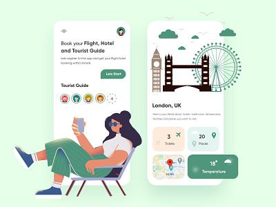 Travel Mobile application-UX/UI Design ui design mobile mobile apps mobileappdesign app interface ui uiux ux uxuidesign mobileapp mobileui minimal mobile app