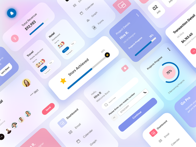 UI Elements/Components-UX/UI Design typography dashboard project elements uicomponents mobileui webdesign productdesign branding illustration hira mobile ui dubai designer concept creative minimal adobe xd mobile app design 2020 clean